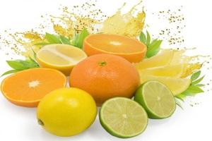 Лайм, лимон, апельсин