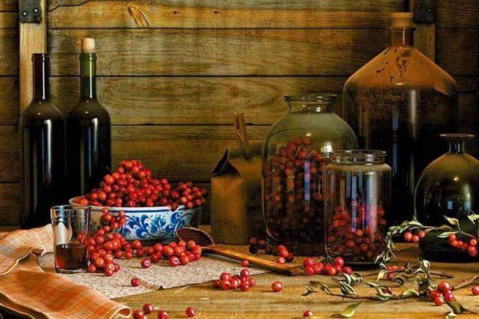Вино из красной рябины