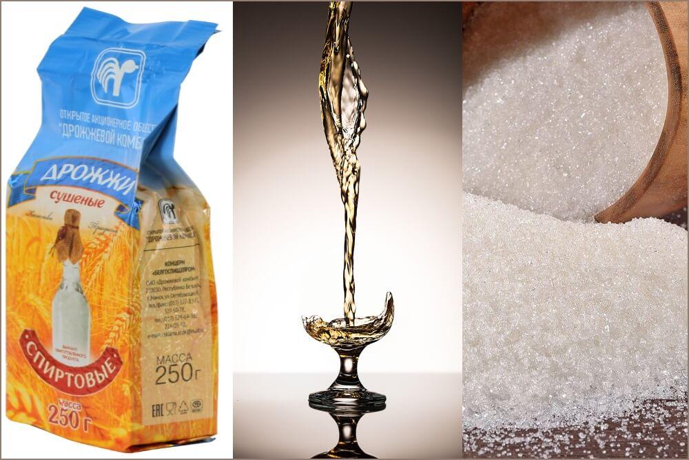 Брага из сахара и дрожжей