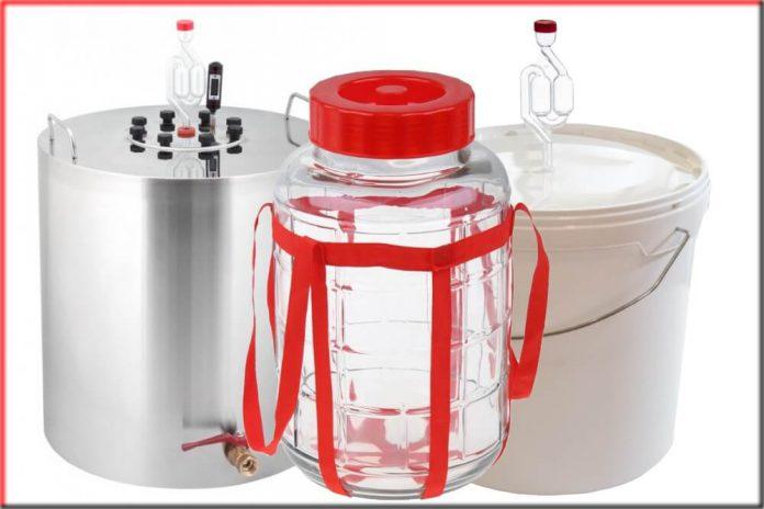 Емкость для браги с гидрозатвором