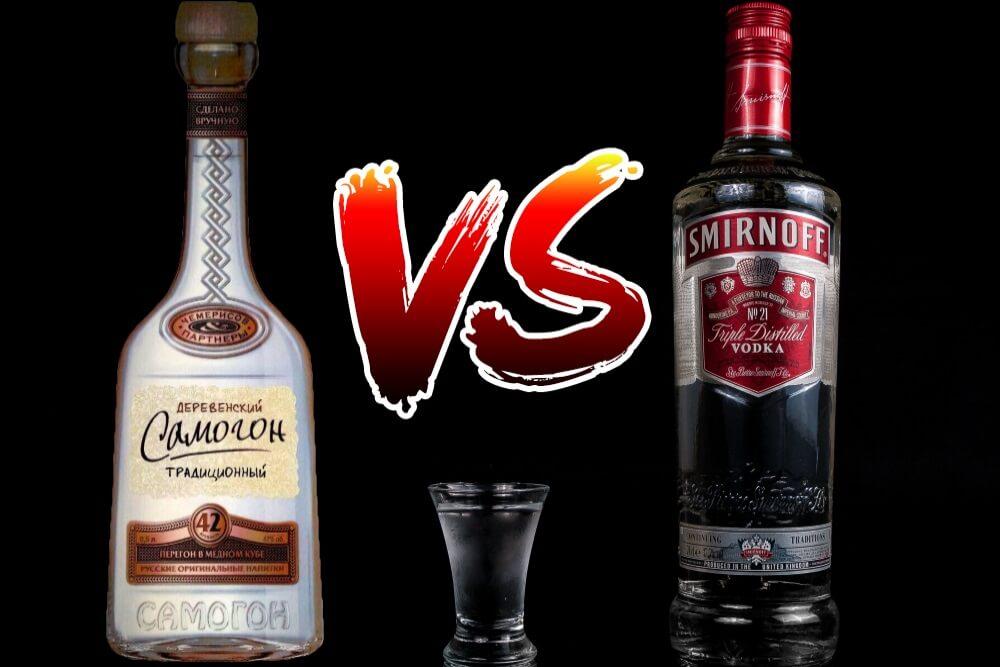 Что лучше - самогон или водка