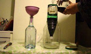 Очистка водки углем