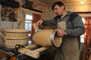 Подготовка дубовой бочки