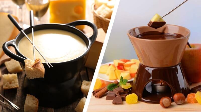Фондю сырное, шоколадное