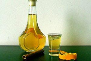 На апельсиновых корках
