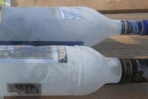 Замерзшая в морозилке водка